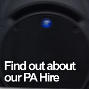 Find out about our PA &amp Equipment hire